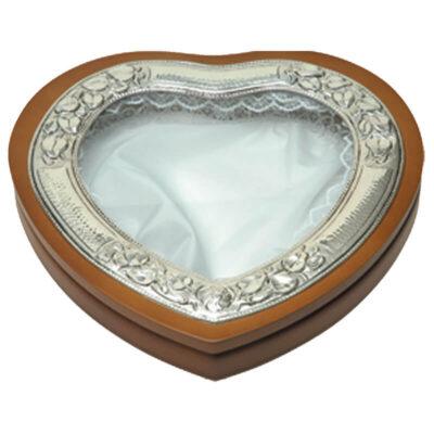 Στεφανοθήκη Καρδιά Λουλούδι-Flower Heart Wedding Wreath Case