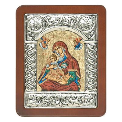 Ξύλινη Εικόνα με Σύνθετη Κορνίζα Α και Μεταξοτυπία-Wooden Icon with Composite Frame A and Silkscreen