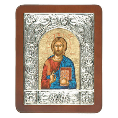 Ξύλινη Εικόνα με Σύνθετη Κορνίζα Β και Μεταξοτυπία-Wooden Icon with Composite Frame B and Silkscreen
