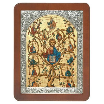 Ξύλινη Εικόνα με Σύνθετη Κορνίζα Z και Μεταξοτυπία-Wooden Icon with Composite Frame Z and Silkscreen