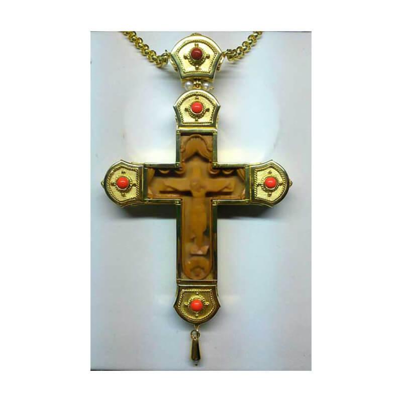 Σταυρός επιστήθιος από ασήμι 925-Silver pectoral cross 925 sterling