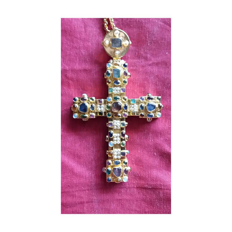 Χειροποίητος σταυρός από ασήμι 925-Handmade silver pectoral cross 925 sterling