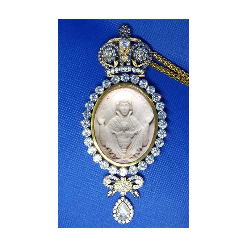 Εγκόλπιο ασήμι 925-Western design handmade silver 925 engolpion