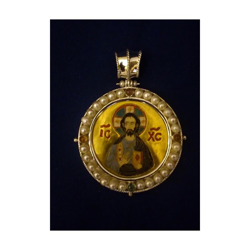 Χειροποίητο μικρό εγκόλπιο-Handmade small silver 925 engolpion