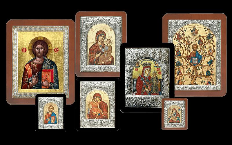 Βυζαντινές Εικόνες με Μεταξοτυπία-Byzantine Icons with Silkscreen