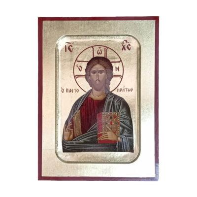 Ξύλινη Εικόνα Σκαφτή-Wooden Curved Icon